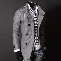 Wholesale Jacket Tags Size - Wholesale-Winter Men Down Jacket Slim Clothing Warm Trench Coat Jacket Woolen Windbreaker outwear Y23 R Asian Tag Size M-XXXL