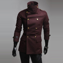 Discount Mens Leather Pea Coats | 2017 Mens Leather Pea Coats on ...