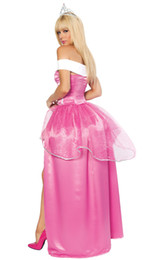 Wholesale Anime Wedding Dress Costume - Wholesale-Special Pink Bride Wedding Dress Fantasy Princess Dress Fantasia Cosplay Halloween Costumes For Women Party Dresses DS-I2809