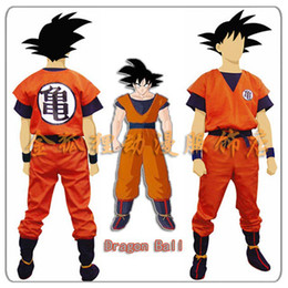 Wholesale Goku Costume Female - Wholesale-Hot Anime Dragon Ball Z Son Goku Cosplay Costume Child Adult Halloween Party Clothing XXS-XXL