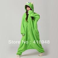 Wholesale Mike Wazowski Costume Adults - Wholesale-New Adult Monsters University Mike Wazowski Costume Pajamas Pyjamas Cosplay Hot