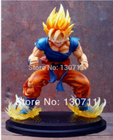 Wholesale Action Figure Caps For Dolls - Wholesale-anime Genuine Dragon Ball Z Action Figure Super Saiyan Goku doll figure toy high qualtity Christmas gifts for friend 28cm