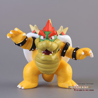 Wholesale Super Mario Bros Caps - Wholesale-Free Shipping Super Mario Bros Bowser PVC Action Figure Model Toy SMFG230