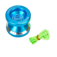 Wholesale Yoyo N8 - Wholesale-FAVOR New Blue Magic YoYo N8 Dare To Do Aluminum Professional Yo-Yo Classic Toys For Players