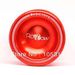 Wholesale T6 Yoyo - Wholesale-Magic YoYo T6 Rainbow 2015 New Style YoYo Ball Toy Professional Yo-Yo Blue Silver Red Retail Free Shipping