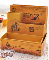 oz organizer - little prince OZ Alice storage organizer box vintage DIY desktop pen box illustrator collection holder stationery