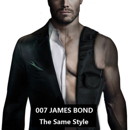 Wholesale bond bags - Wholesale-Free Shipping 1Piece JAMES BOND 007 ! Anti-Theft Hidden Underarm Shoulder EDC Bag Inspector Shoulder Bag