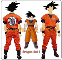 Wholesale Kids Costumes Dragon Ball - Wholesale-Free Shipping Two Style Kids Adult Dragon Ball Z Son Goku Cosplay Costume