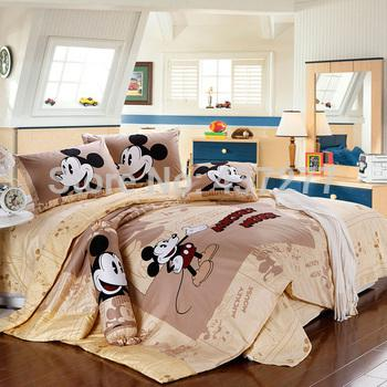 Wholesale Mickey Mouse Wheat Bedroom Sets Doona Duvets 3/4 ...