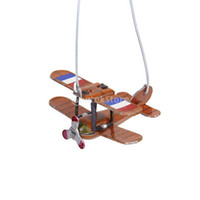 Wholesale Wind Up Toys Free Shipping - Wholesale-New 2015 Brand New Vintage Wind-up Rotated Airplane Collectible Tin toy Free Shipping