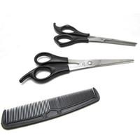 набор парикмахерских ножниц оптовых-Wholesale- new hot-sale 5sets/lot 3 In 1 Hair Cutting Thinning Hairdressing Shears Scissors Comb Set Barber free shipping