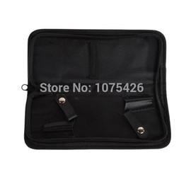 Wholesale Case Cutting Tool - Wholesale-1PC Black Zipper PU Storage Case Tools for Hairdressing Scissor Shears Wholesale!