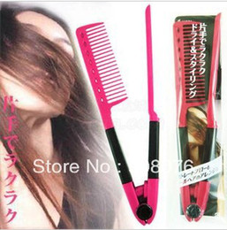 $enCountryForm.capitalKeyWord Canada - Wholesale-Best Selling! Hair Stylers V-shaped Ionic Tension Splint Straightening Comb 5 pcs lot + Free Shipping
