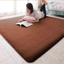 Wholesale Wool Table Mat - Wholesale-High Quality coral fleece Rugs and Carpets for living room,coffee table Soft Floor Mats Cushion 160*230cm Carpet