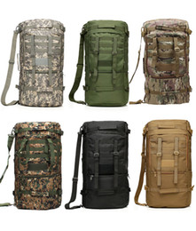 Wholesale Canvas Tactical Backpack - Wholesale-60L Large Capacity Backpack Climbing Mountaineer Outdoors Tactical Shoulder Bag