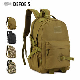 Wholesale Animal Gym Bag - Wholesale-40L Military Tactical Large Outdoor Sports Backpack Rucksacks For Explorer Hiking Camping Trekking Gym Waterproof Molle bags