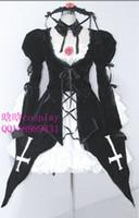 Wholesale Suigintou Cosplay Costume - Wholesale-New Rozen Maiden Suigintou Mercury Lampe Cosplay Costume Lolita Dress Free Shipping