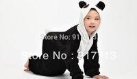 Wholesale Cute Panda Cosplay - Wholesale-Hot!!! New Panda Pajamas Cute Unisex Children's Cosplay Animal Costume Onesies For Kids