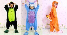 Wholesale Cosplay Pajamas Dragon - Wholesale-New Unisex Flannel Multifunction Pajamas Pyjama Anime Onesies Kids Sleepwear Dinosaur Donkey  Fire Dragon Cosplay Costume