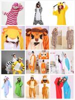 Wholesale Cheshire Cat Costumes - Wholesale-Animal Elmo Pluto Tiger Zebra Eeyore Monkey Leopard KT Cat Lion Cookie Cheshire Cat Cosplay Pajamas Adult Unisex Onesie XL