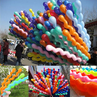 Wholesale Spirals Party - Wholesale-100 Pcs Per Lot Latex Rubber Helium Spiral Balloons Party Wedding Birthday Supply Colorful
