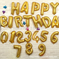 Wholesale Black Letter Balloons - Wholesale-1pc 16'' Big Size Silver Gold Alphabet A-Z 26 Letters Number 0-9 Foil Balloon Wedding Party Decoration Happy Birthday