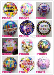 2019 111 globos Al por mayor-Globos lote mixto feliz cumpleaños globo de aluminio globos de aluminio helio globo mylar baloon para niños decoraciones de fiesta de cumpleaños