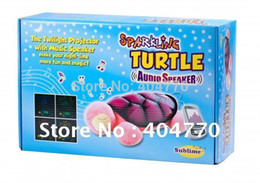 Wholesale Star Light Turtle Toy - Wholesale-The Newest 6th Gen MP3 Music Turtle Night Light, Baby Children LED Tortoise Star Sky Projector Lamp Toy, with Music Speaker