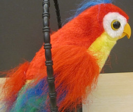 Wholesale Recording Parrot - Wholesale-Electronic Boys Girls Magic Recording Talking Parrot Downy imitate Record Plush interactiveToys Gift For Children