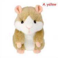 Wholesale Toy Hamster Voice - Wholesale-Talking Hamster Voice Recorder Plush Electronic pet toys classic baby Toys Learning & Educational for child baby Free shipping