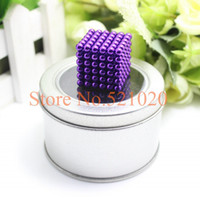 Wholesale 216 Buckyballs - Wholesale-Free shipping dropshipping neocube magic cube   216 pcs 4mm magnetic balls buckyballs at metal tin box