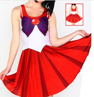 Wholesale Sailor Moon Costumes For Women - Wholesale-10 Colors Anime Sailor Moon Cosplay Sexy Costume Plus Size XL Halloween Costumes Gift For Women Fantasia Lolita Costumes W00425