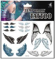 melek ürünleri toptan satış-Toptan-Ücretsiz nakliye seksi ürünleri geçici dövme etiket DIY melek kanatları dövme su geçirmez vücut sanatı boyama dövme kadınlar için HSC166