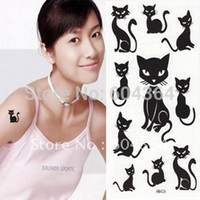 Wholesale Rub Transfers Sticker - Wholesale-HM426 water and sweat proof rub-on transfer tatoo stickers cat shape easy for use and easy for cleanning-fans articles