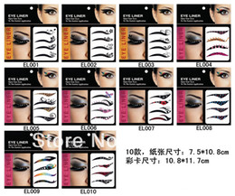 Wholesale Eye Shadow Smoky Tattoo - Wholesale-Free shipping 60packs = 240pairs fashion eye shadow eyeliner stickers smoky eyes tattoo