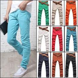 Wholesale Cheap Army Pants For Men - Wholesale-2015 new arrival korean style Men's Multicolor jeans denim jeans slim Trousers pencil pants fashion cheap casual jean for men