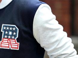 Wholesale Baseball Jackets R - Wholesale-2015 hot selling autumn winter mens jackets and coats brand jaqueta man baseball outwear sports jacket varsity with R letter
