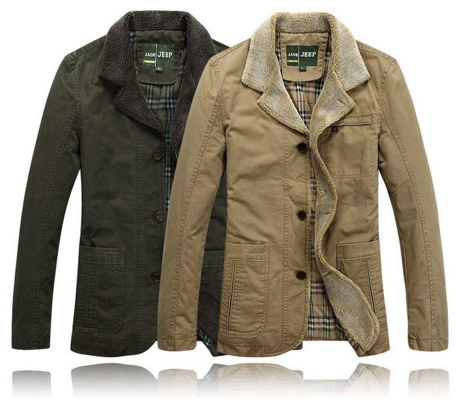 f8d035a63 Wholesale-New Stylish Outdoor Jackets Casual Mens Winter -Autumn Coat Brand  Jacket Fur Collar Outercoat Sport Men Winter Jacket Overcoat