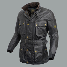Wholesale Quilted Coat Black - Wholesale-2015 New Brand quilted coat Men's thick Jacket double layer Waxed Cotton with cotton vest casual Man motorcycle Jackets
