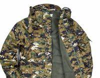 Wholesale Jungle Digital Camouflage - Wholesale-Outdoor clothes US Amry 100% Cotton Jungle digital Camouflage Mens Camo Jacket Outdoor camouflage Hoodies,windbreaker