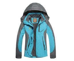 Wholesale Waterproof Coats Plus Size Women - Wholesale-Outdoor Sport Autumn Winter Overcoat Plus Size Velvet Waterproof Jacket Women Windproof Coat Men Brand Camping Hiking Sportswear