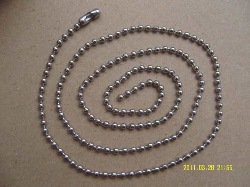 Acier inoxydable Billes en acier inoxydable amant mâle Lady femmes chaînes collier 2.4mm Mix de bijoux