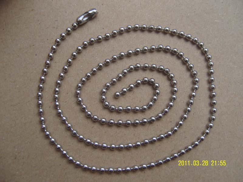 Liebhaber Männliche Dame männer frauen Edelstahl Ball Perlen Ketten Halskette 2,4mm 20 stücke Schmuck Mix