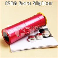 Wholesale Bore Laser 12 - Wholesale-Egul Hunting 12 GAUGE 12 GA Cartridge Laser Bore Sighter Boresighter Red Sighting Sight Boresight Red Copper 12GA FREE Shipping
