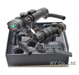 Wholesale Green Dot Lasers - Wholesale-Adjustable w  Mounts Tactical Hunting Rifle Green Laser Sight Dot Scope Hunting Optics Equipment
