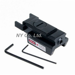 Wholesale Low Profile Laser - Wholesale-Tactical Low Profile 532nm Compact Rail Red Dot Laser Sight Picatinny Weaver Rail 22mm Mount For Pistol