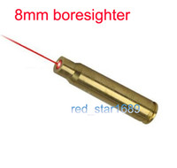 Wholesale 8mm Bearings - Wholesale-Brand new 8mm Cal 632-650nm Mauser Rifle Cartridge Red Laser Bore Sighter Boresight  boresighter copper