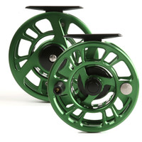 Wholesale China Reels Ship - Wholesale-Free shipping! High quality! NZ 5 6wt CNC Fly reel made in China machine cut Large arbor Aluminum Fly fishing reel