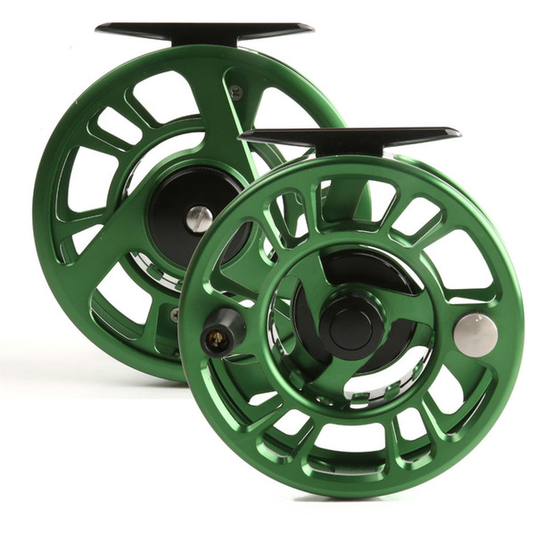 Wholesale-Free shipping! High quality! NZ 5/6wt CNC Fly reel made in China machine cut Large arbor Aluminum Fly fishing reel