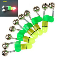 Wholesale Night Fishing Bell - Wholesale-10 pcs Led Night Fishing Accessory Rod Tip fish Bite Double Twin Alarm Alert Clip Bells Ring Fishmen Fishing Lights Alarm Bell